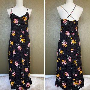 Old Navy Polka Dot Floral Maxi Dress
